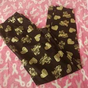 Gold Heart Pants